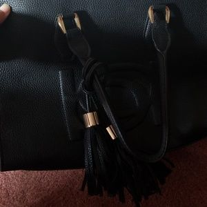 Bebe black tote bag